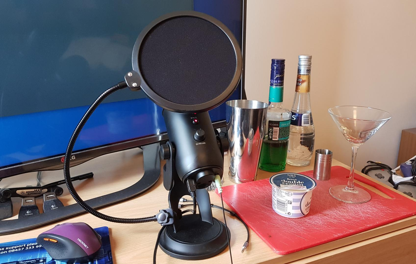 My current podcasting setup during the recording of an episode of  Dr Wilko's .
