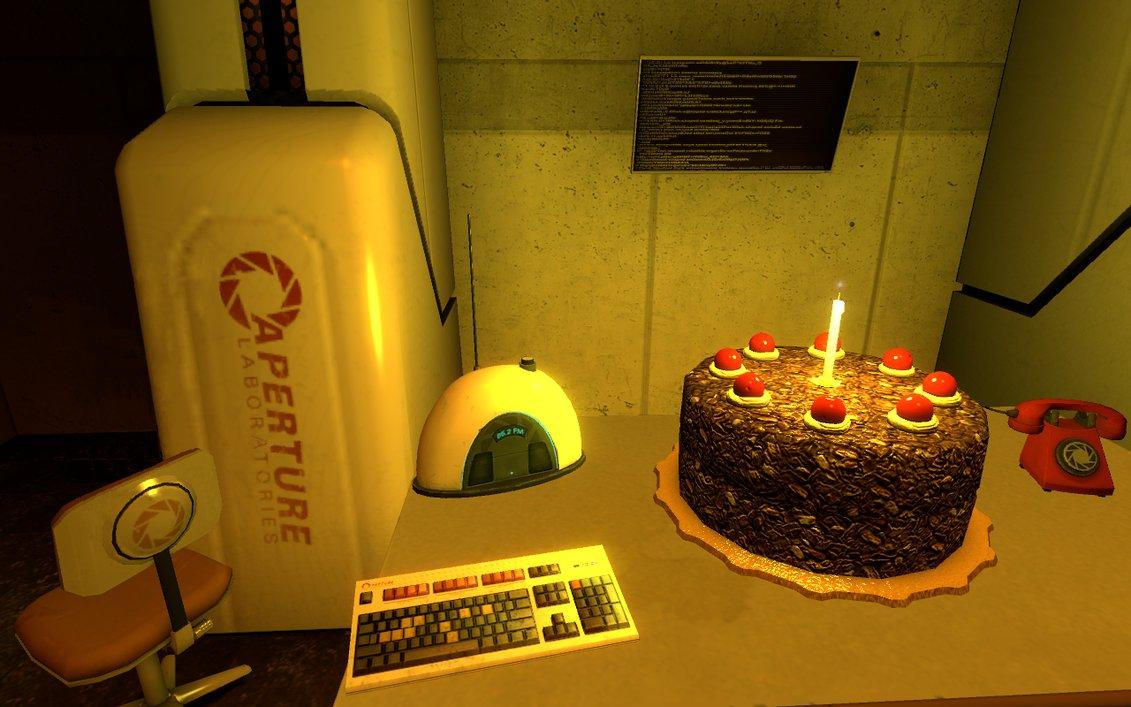 Portal Cake Wallpaper
