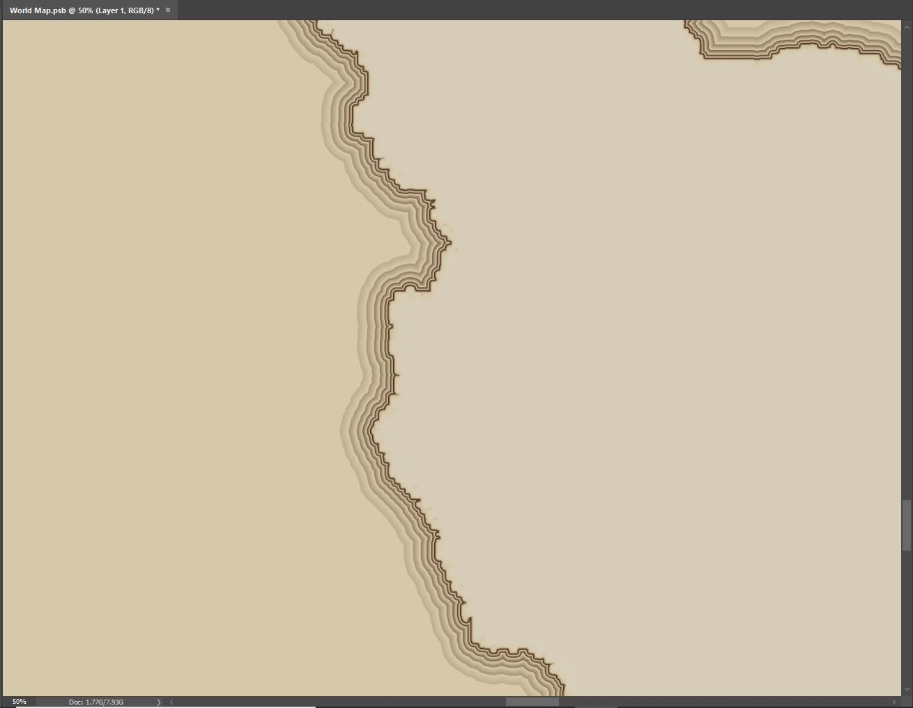 Some contoured edges make the land much more distinct
