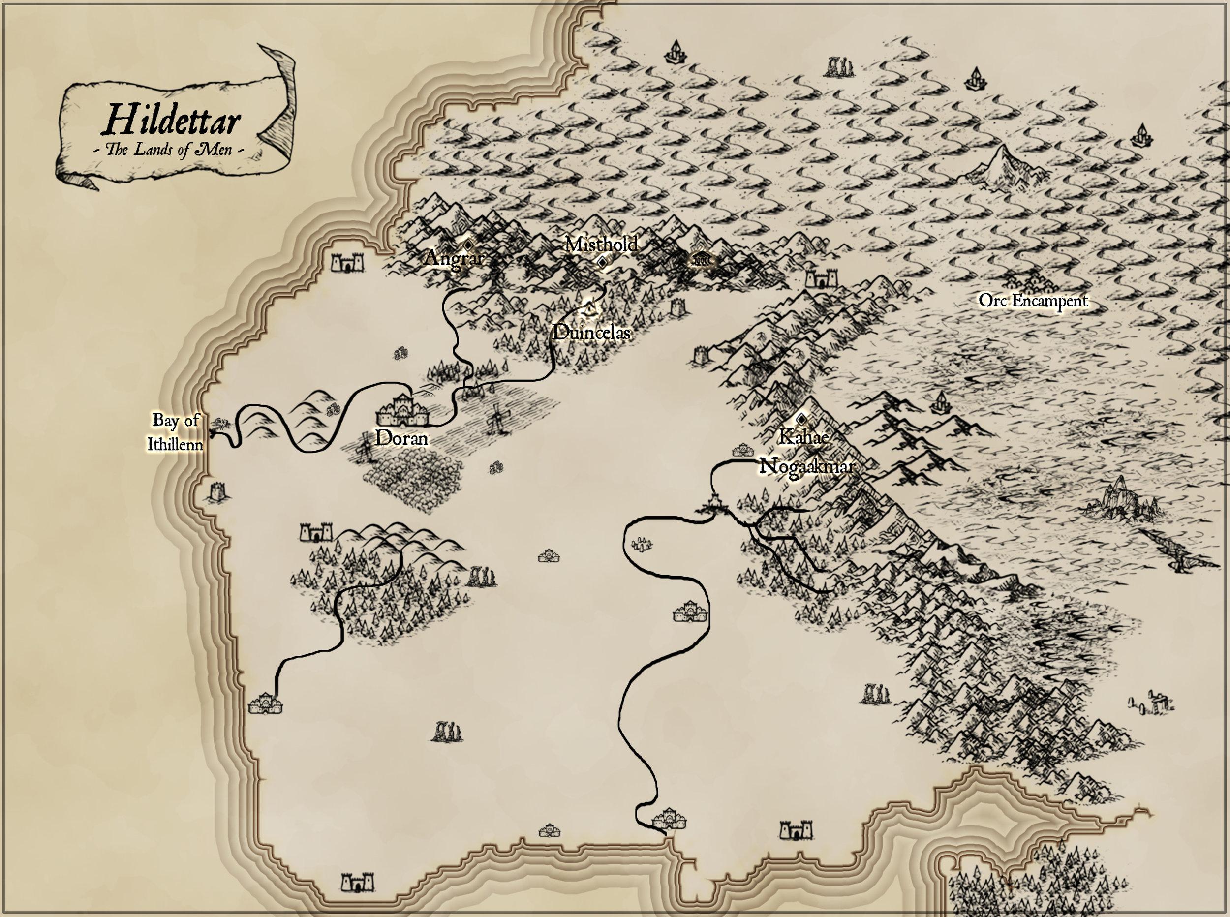 Hildettar, the Lands of Men