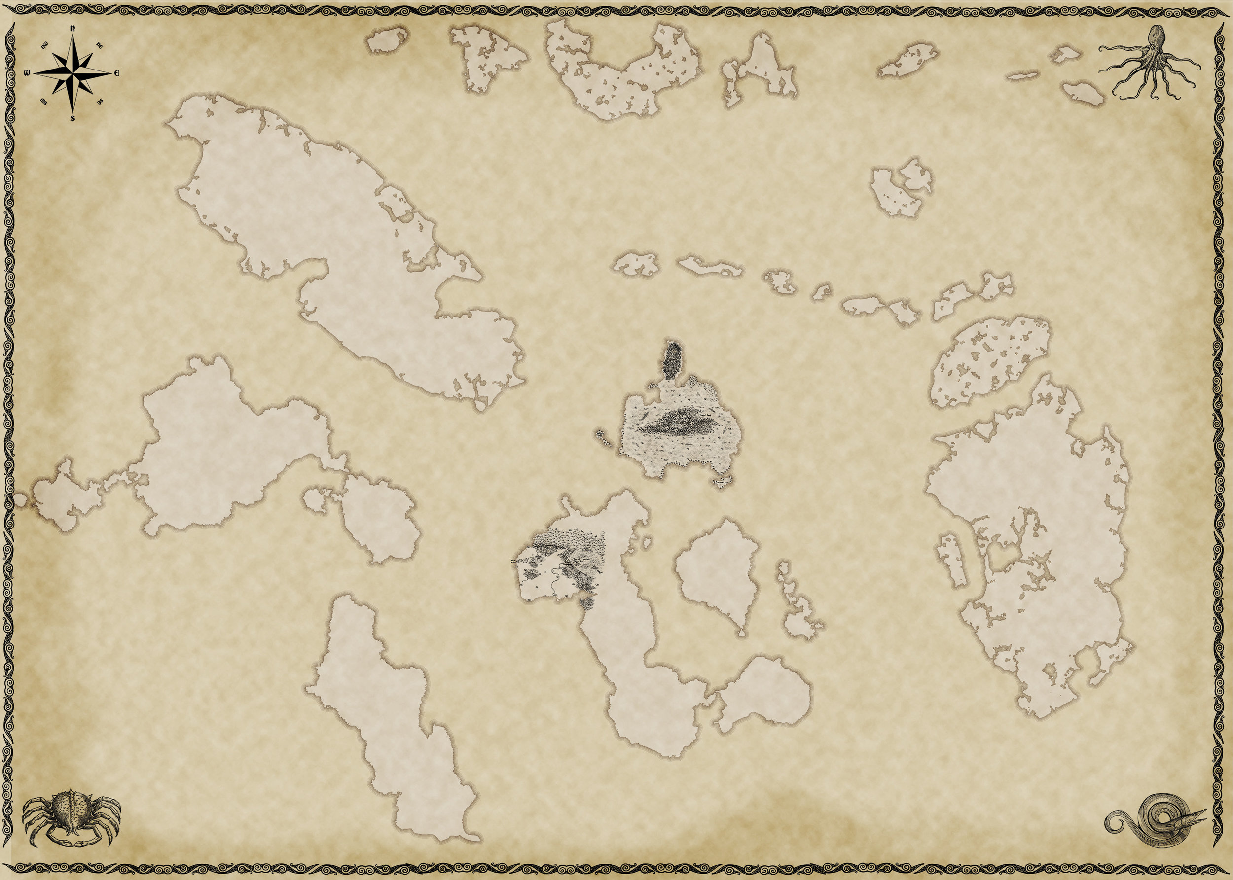 The World Map so far, at 10 percent scale