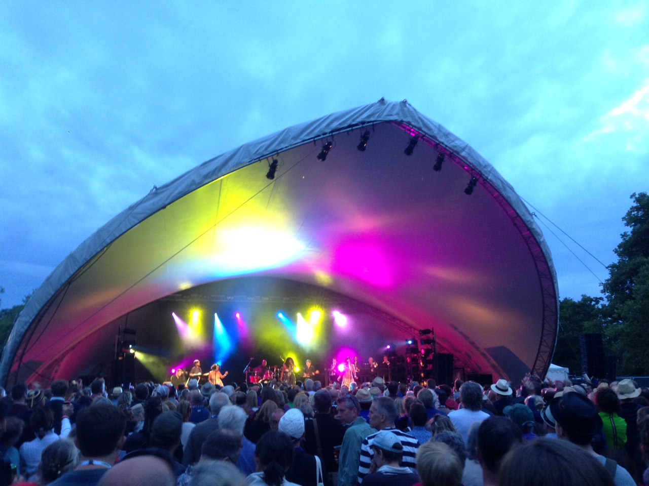 Martha Reeves lighting up the Songbird Stage at Cornbury on Friday night