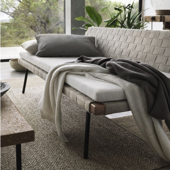 The daybed from  Ilse Crawford's Sinnerlig collection for IKEA