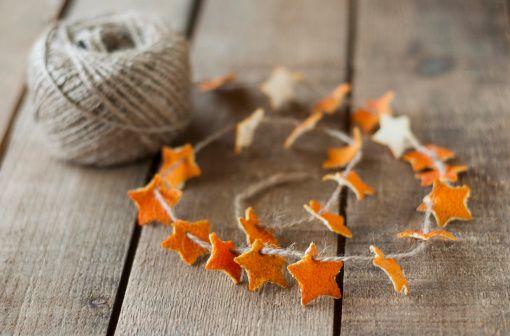 Orange star garland from  here