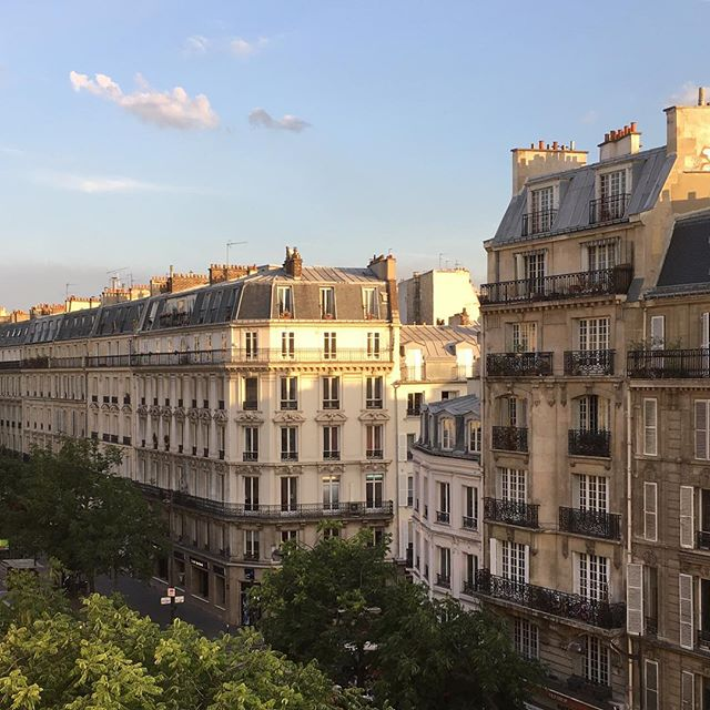 Paris at #goldenhour. I can see why this city captures so many hearts, even in the height of summer when tourists are thronging the streets and clogging the sights and the metro is hotter than the sun. I'm happy to be one of those tourists this week though I'd be happier to have a permanent pied à terre here that I could hop on over to in springtime and whenever the fancy took me. Tonight we soothe sore feet and recharge batteries ready for a very non-cultural day at #disneylandparis tomorrow. Oh. The. Joy. #travellingwithkids #europeanadventures