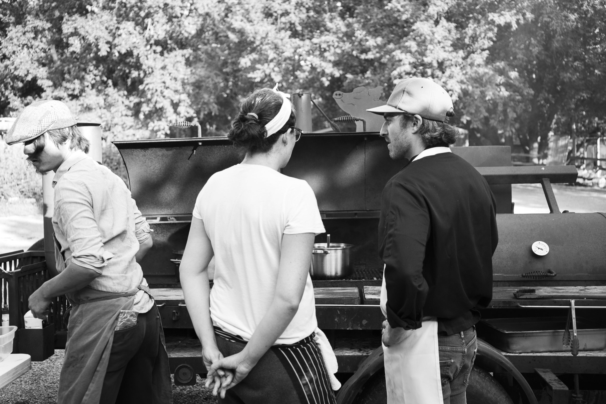 Smoker Chefs Cooking BW H.jpg