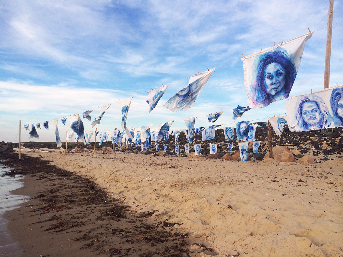 'Leviathan: The Montauk Portrait Project, Phase I: The Jetty' (2014) Image courtesy of artist.