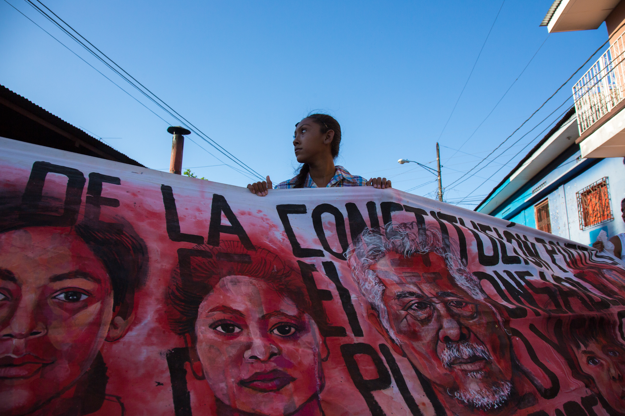 Empalagoso (Saccharine): The Chichigalpa Portrait Project, Banners in Protest. Photo courtesy of Tom Laffay.