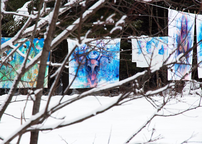 'Deer & Artemis' (2014) Image courtesy of artist.