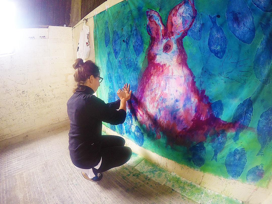'Blood Bunny' at 42 Acres Art Residency (2015) Image courtesy of artist.