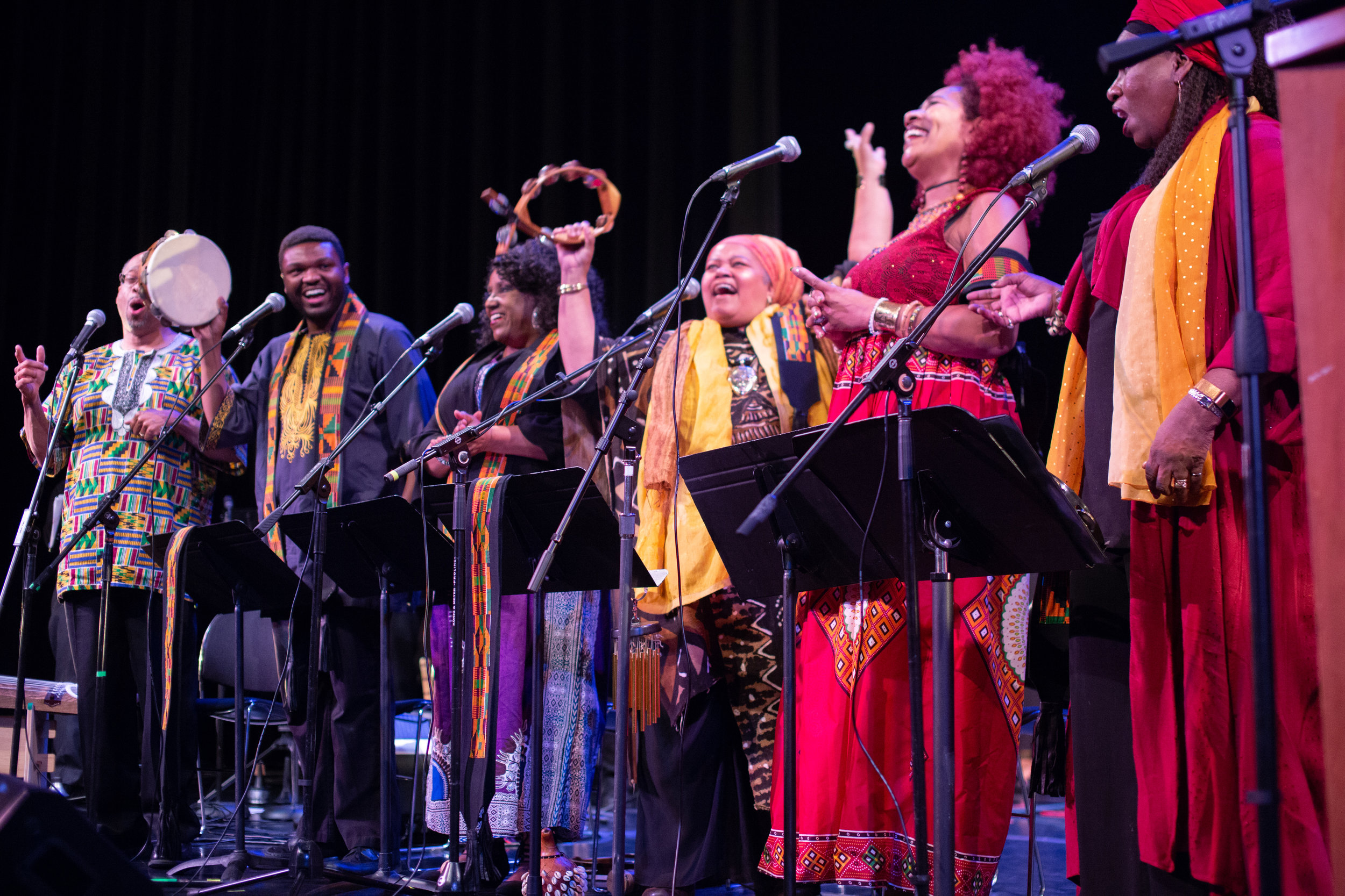 Voices of a Dream - (From L to R):  Paul Daniels, Terry Stanley, Lisa Joseph, Amikaeyla, Martha Mangle, Sharon D. Henderson