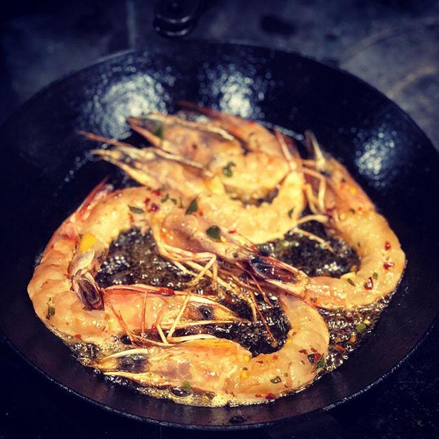 Who are you calling a shrimp?  Sorry. We had to. ⠀ .⠀ .⠀ .⠀ .⠀ .⠀ .⠀ #nycrestaurants #nycdining #nycfoodie #eeeeeats #foodie #feedfeed #f52grams #cheflife #foodporn #chefsofinstagram #truecooks #forkyeah #foodofig #foodiesofinstagram #nycfood #nyceats #foodandwine #gulfshrimp #eatsustainable #americanshrimp #seafood #shrimp #summermenu #summerfood #blacksteel