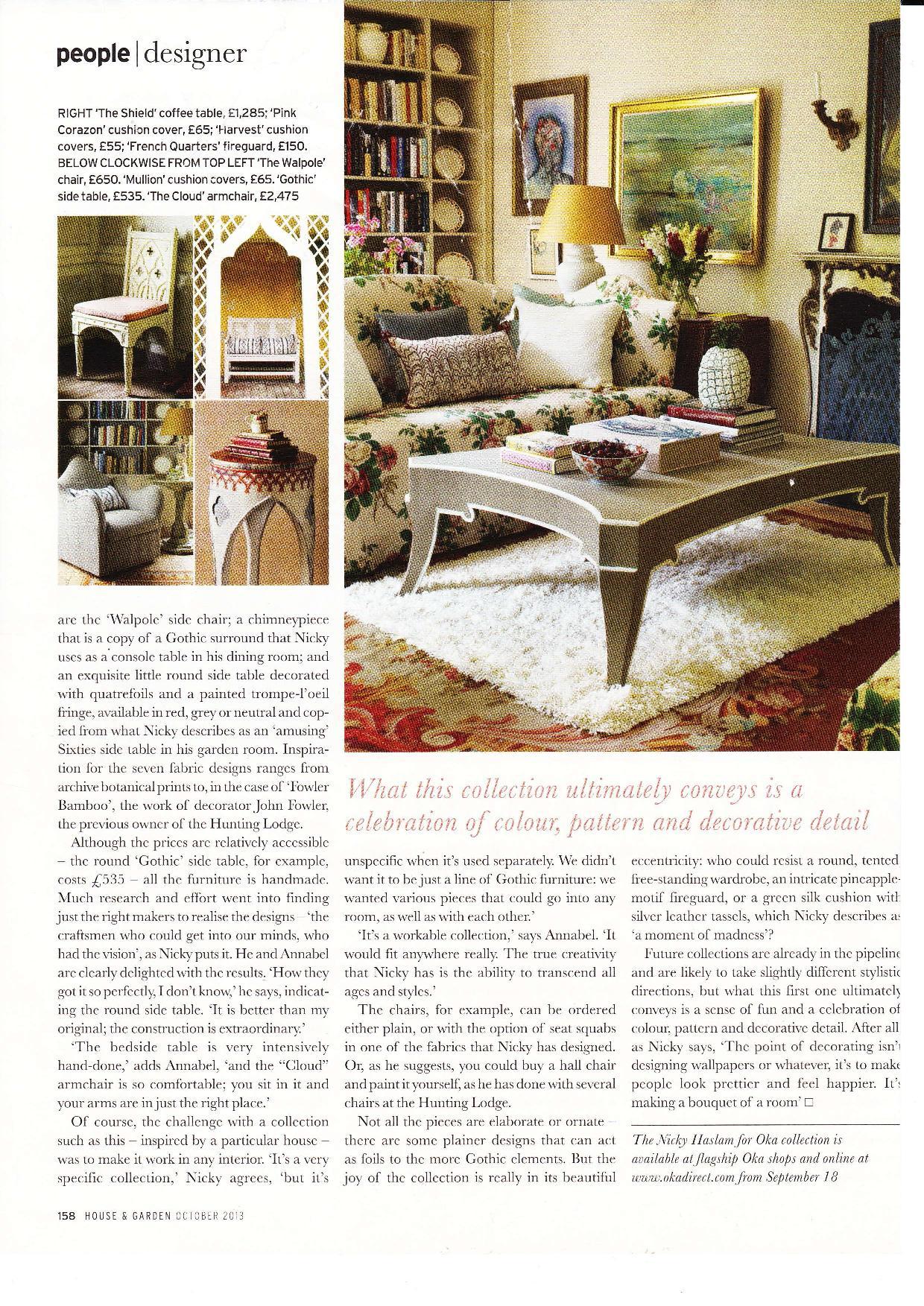 Sofa covered in Georgina Fabric