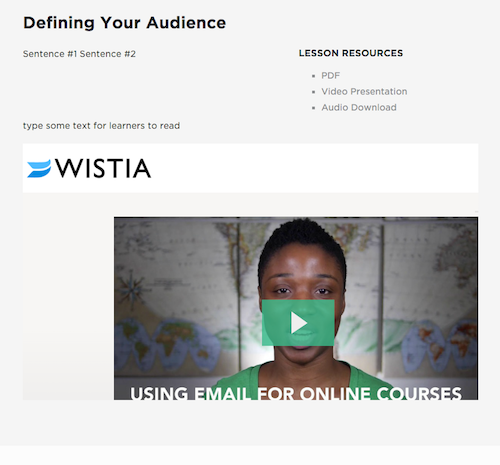 See the weird Wistia banner and video placement?