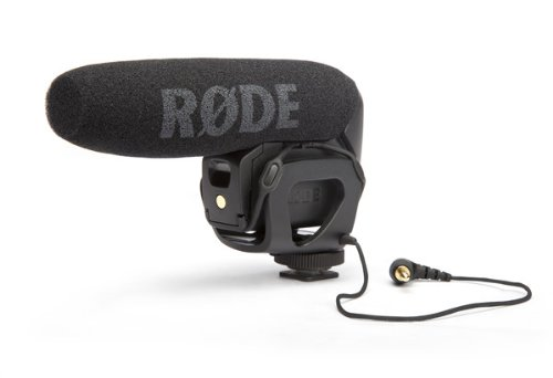 The fabulous Rode VideoMic Pro. Connects directly to your camera for quick, quality audio.