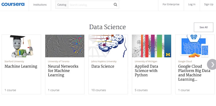 Some of Coursera's online courses