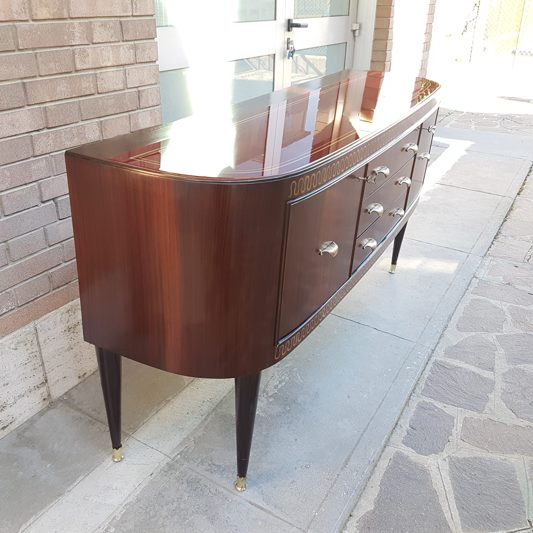 After restoration Italian Mid Century Modern Sideboard