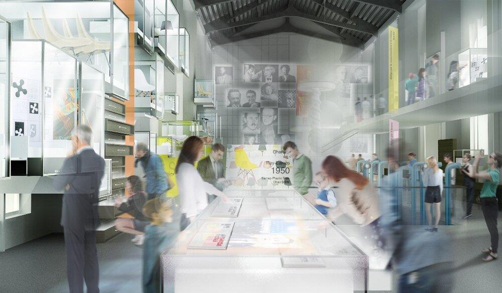 ADI Compasso d'Oro Design Museum, rendering of the project by Migliore + Servetto Architects and Italo Lupi