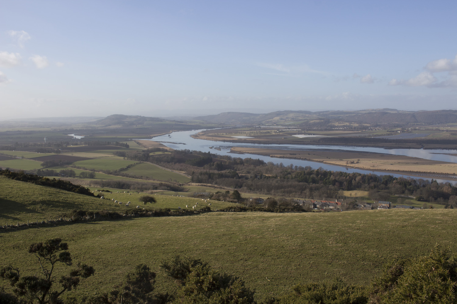 View North West toward Perth, from Ormiston Hill which rises behind Newburgh's centre