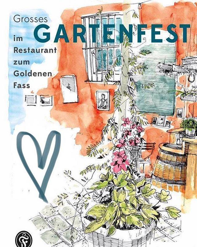 Save the date // Grosses Gartenfest // Samstag, 1. Juni 2019 // ab 16h // Grill // Live-Musik // Pure Freude # # # #zurichfood #quartierbeiz #gartenbeiz #visitzurich #zürichgehtaus #festival #fest #sommer #music #restaurant #zürich
