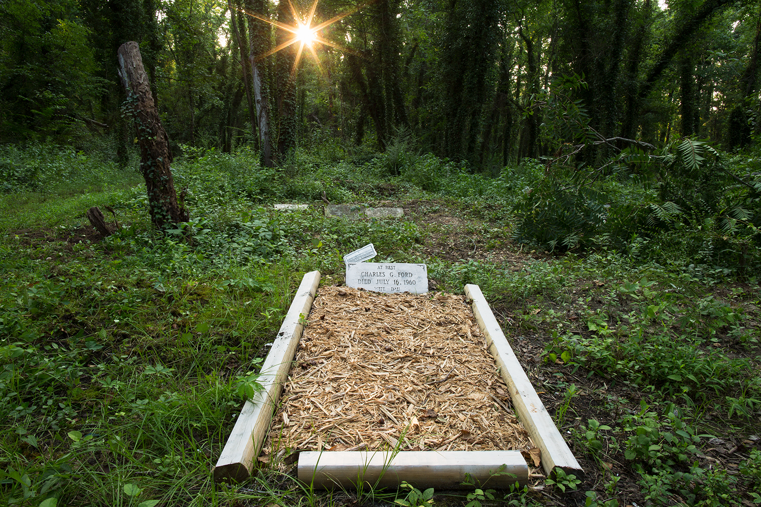 """The two were buried """"double depth"""" in a single grave, at East End Cemetery, Henrico County, Virginia."""