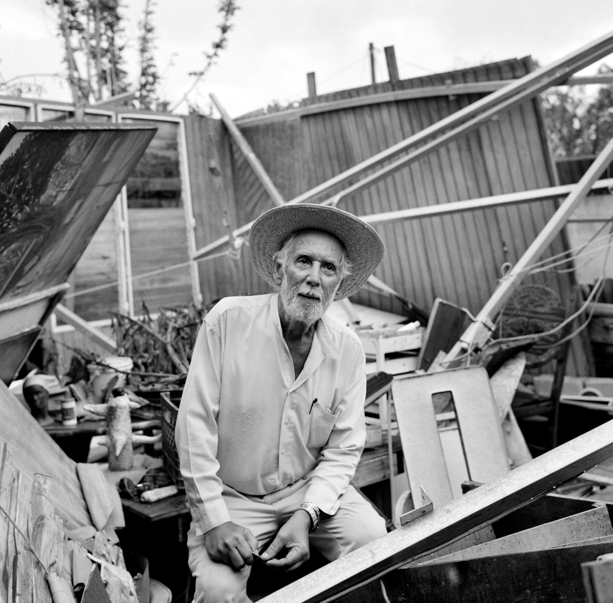 "Felix Rafael Cordero, an 86-year-old Korean War veteran, is a painter and photographer in Caguas. He left his house before Hurricane Maria, which destroyed it. ""My home and life's work were taken away,"" he said."