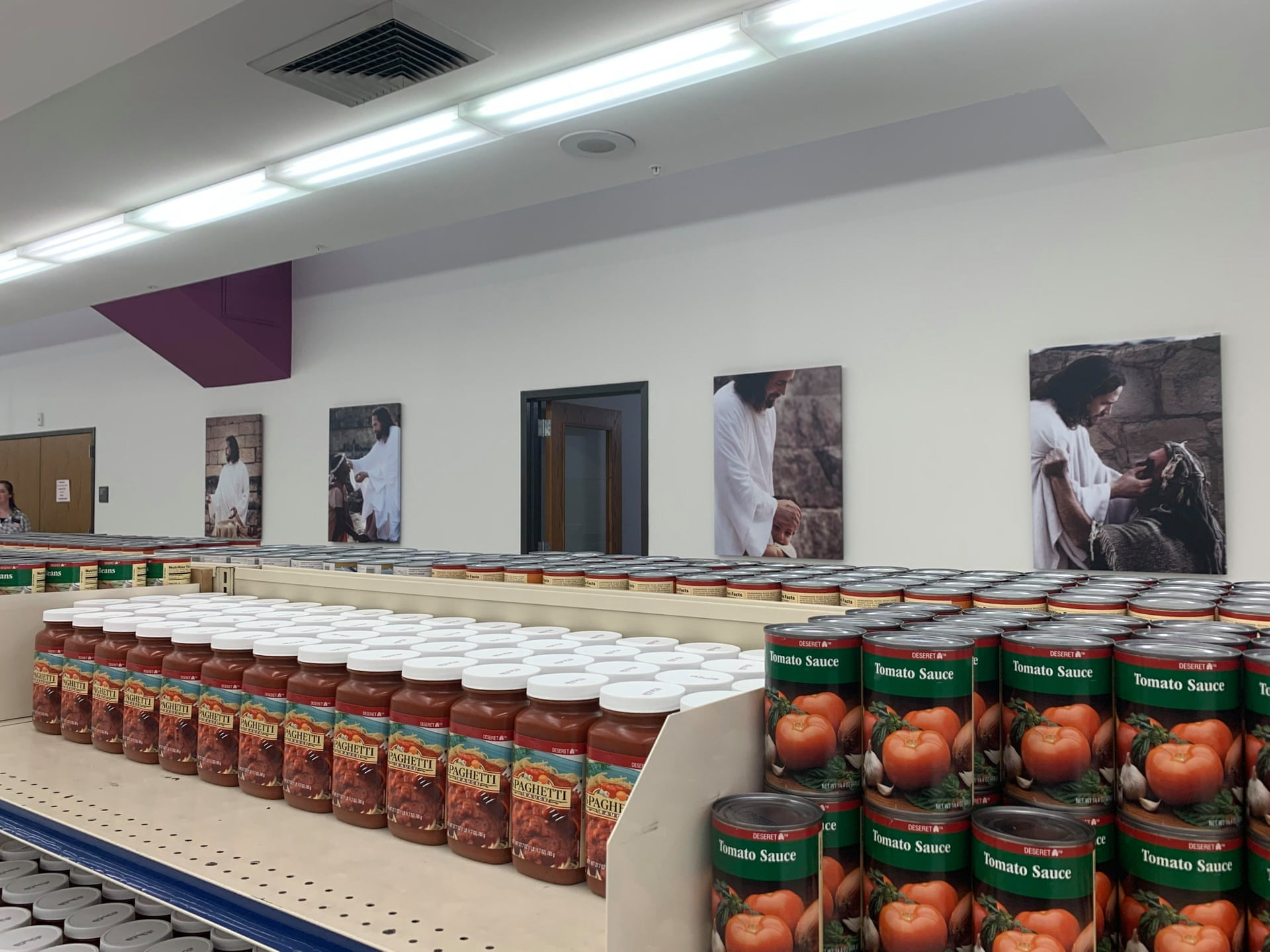 The Bishop's Storehouse, a free grocery market open to people – both church members and non-believers – in need of food aid. (Kathleen McLaughlin)