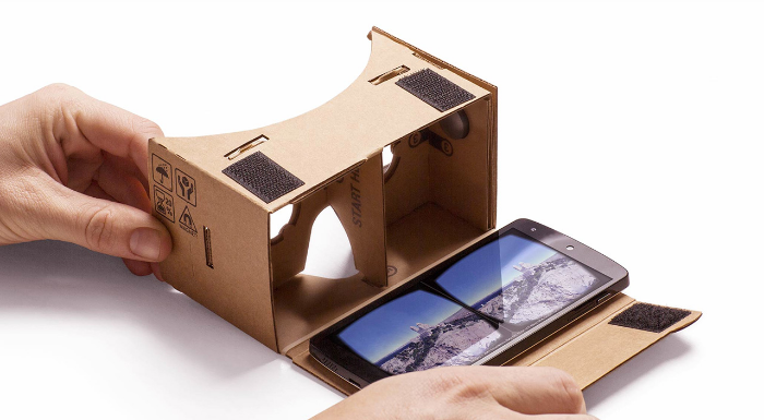 The simplicity of Google Cardboard: Slip your phone into the device and voila - virtual reality is a, well, reality.