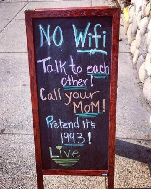 We've all seen those viral posts floating about on social media of cafés with witty 'No wifi' signs. If those make you cringe in pain rather than make you smile, then don't worry... this guide is for you.