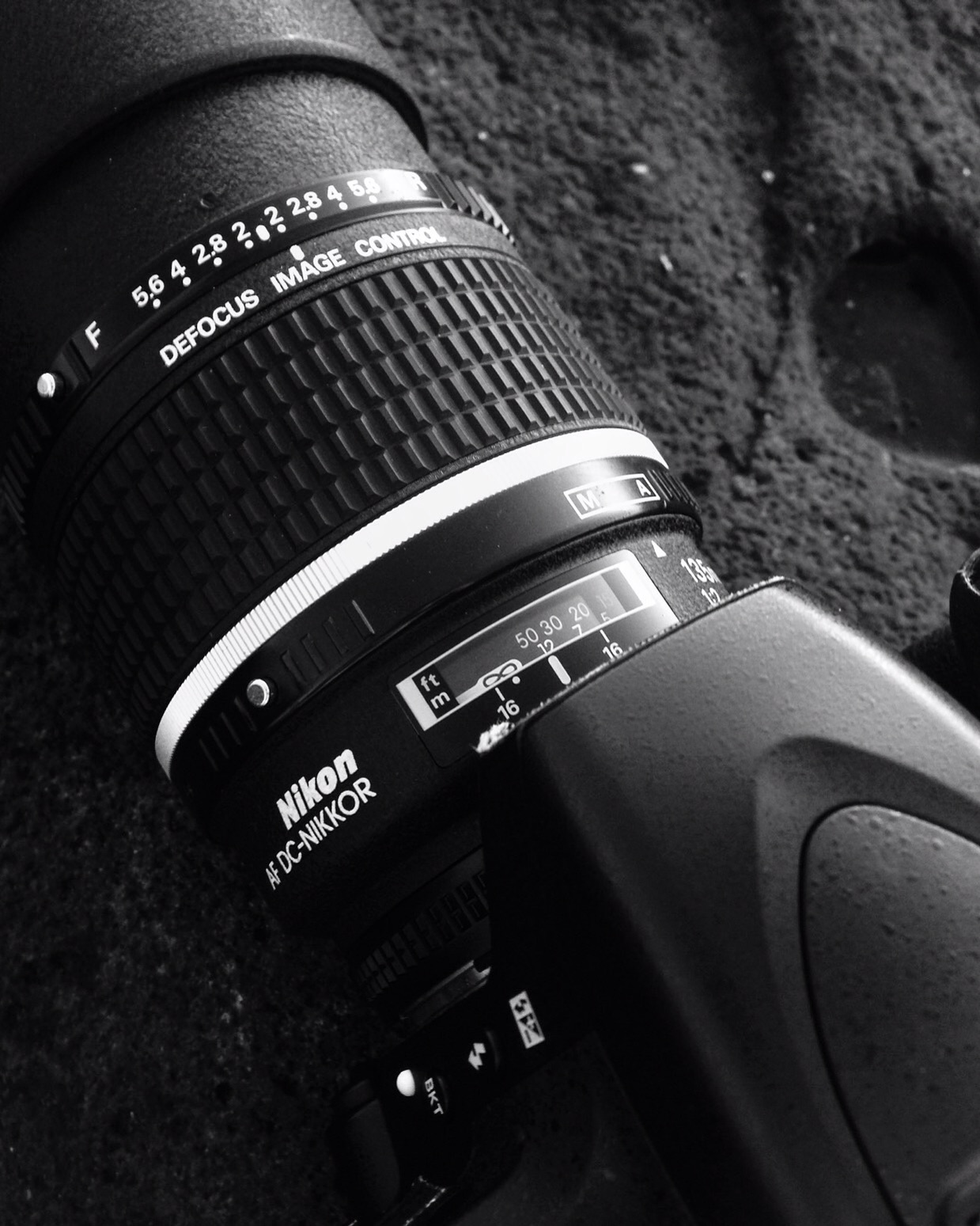 Tools of the trade:  Nikon D750 with AF-DC Nikkor 135mm f:2.0