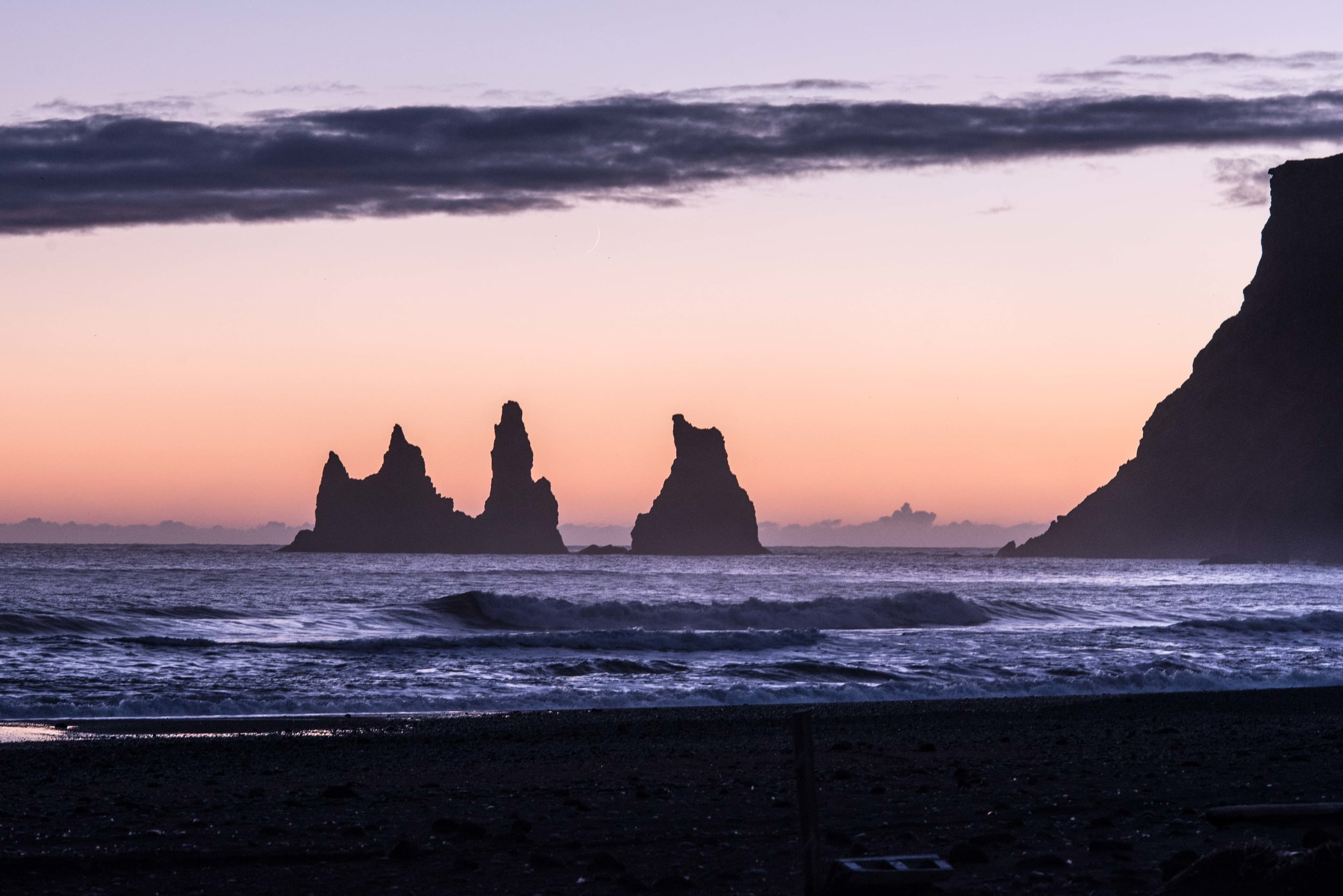 Vik Sea Stacks, a telephoto treatment
