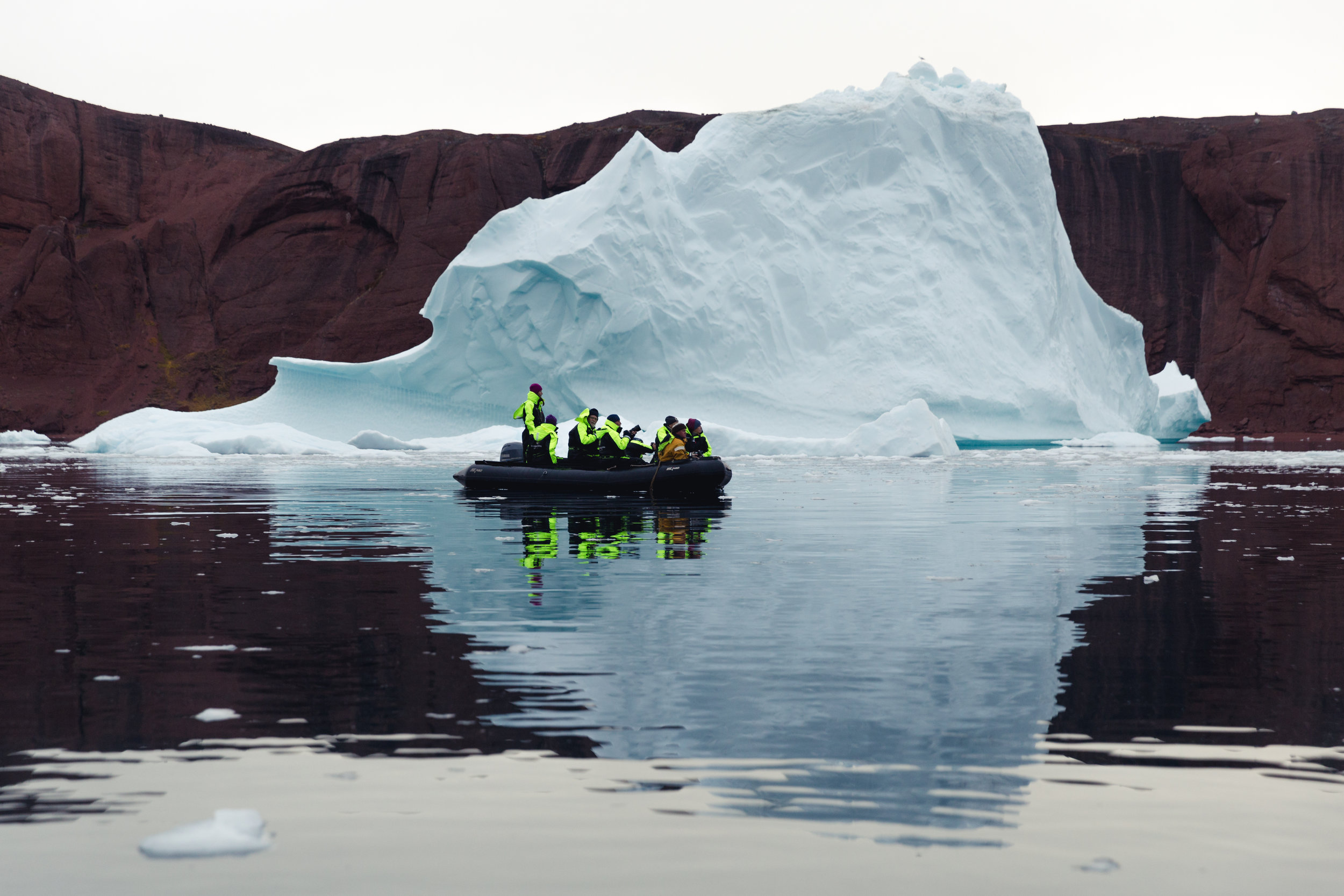 Silent Arctic Greenland Photography Workshop Zodiac Trip