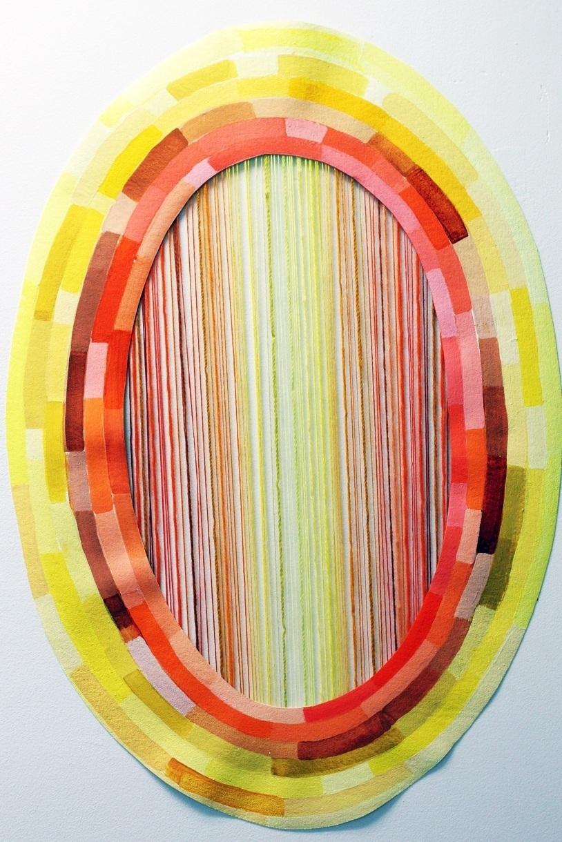 - Thread Painting: Orange/Yellow, Nana's thread and acrylic on canvas, 2019