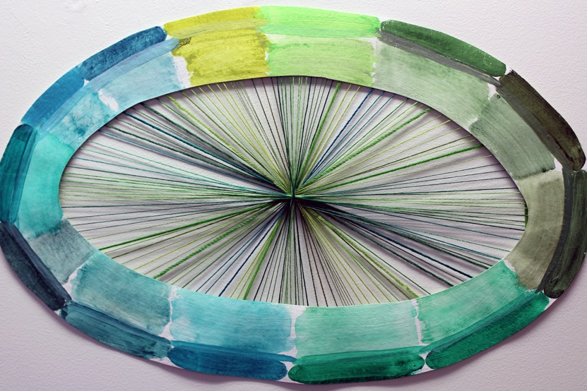 - Thread Painting: Green, Nana's thread and acrylic on canvas, 2019