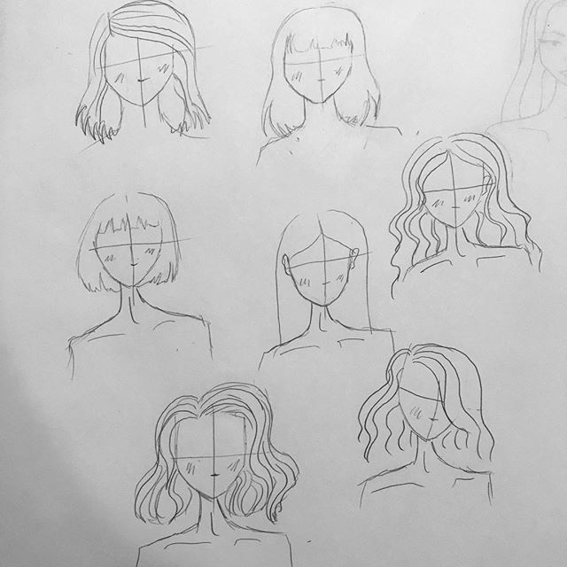 Quick warmup today to help decide what hair style(s) to use for my next portfolio piece 💇♀️🤷♀️ decisions decisions... • • • • • #inspiration #fashionillustration #fashiondesign #womenwhomake #artanddesign #design #sewing #makersofinstagram #illustration #femaledesigners #sarahkoval #new #sketch #croquis #blackandwhite