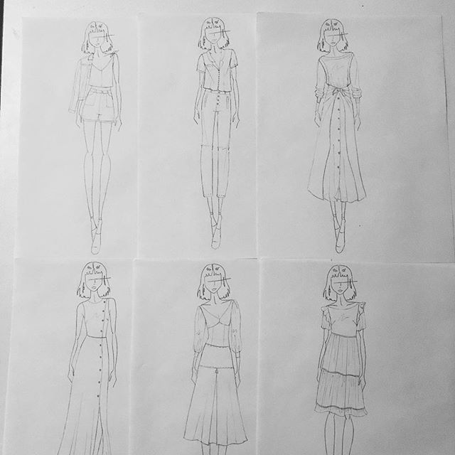 Laying out the looks and getting ready to ink some sketches ✨🖊✨ #SS2020 • • • • • #inspiration #fashionillustration #fashiondesign #womenwhomake #artanddesign #design #sewing #makersofinstagram #illustration #femaledesigners #sarahkoval #new #micron #pencilsketch #springsummer #design #fashion