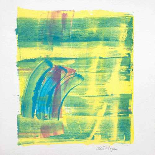 "CENTER 1, Chloé Meyer original art, 10"" x 11"", ink on paper"