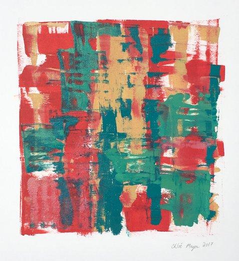 """COCKTAILS 3, Chloé Meyer, original artwork, 10"""" x 11.25"""", ink on paper"""