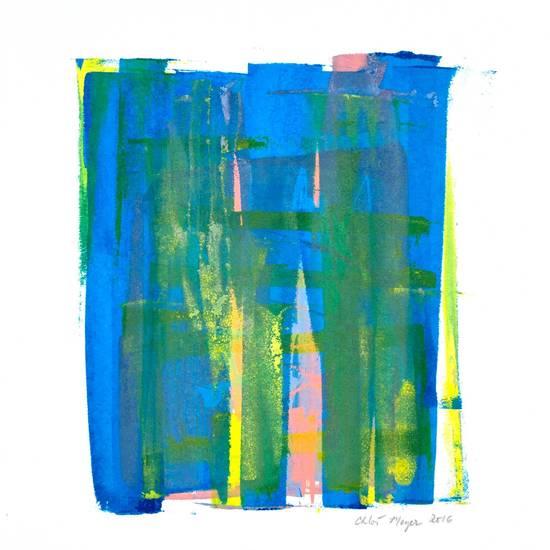 "CHIME 1, Chloé Meyer original art, 8.75"" X 9.75"", ink on paper"