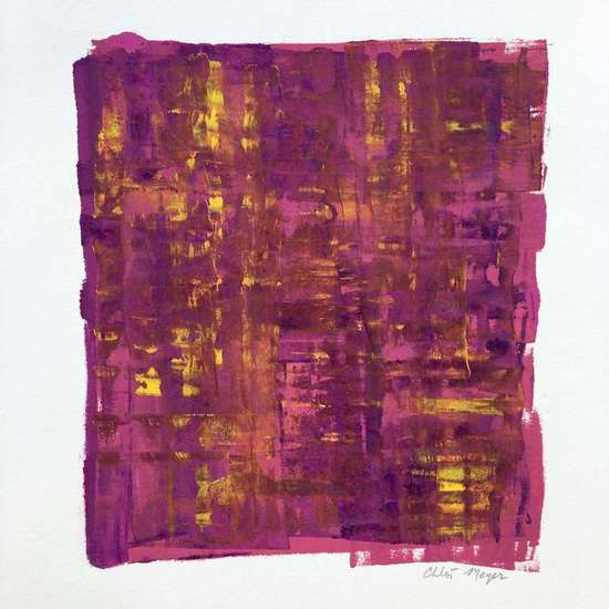 "WELCOME 2, Chloé Meyer original artwork, 10"" x 11.25"", ink on paper"