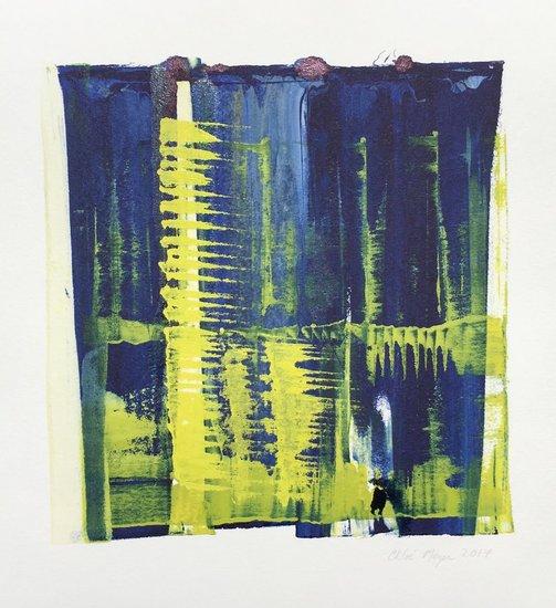 "SPLASH 5, Chloé Meyer original art, 10"" x 11.5"", ink on paper"