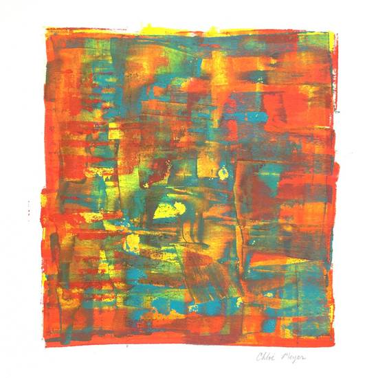 "TRAIN 1, Chloé Meyer original art, 9.5"" X 10"", ink on paper"