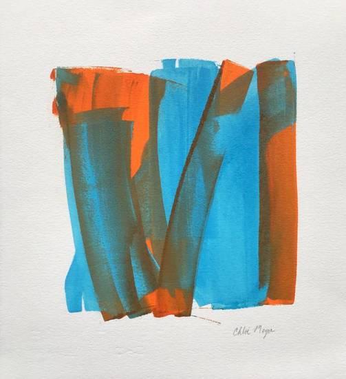 "PROGRAM 6, Chloé Meyer original art, 10"" x 11.25"", ink on paper"