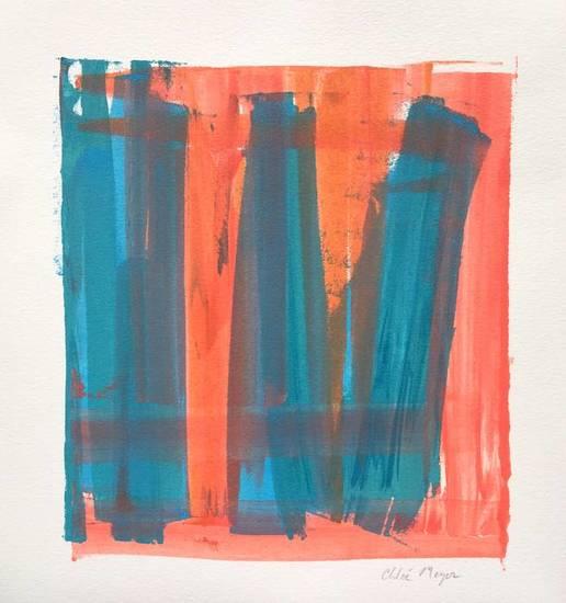 "PROGRAM 7, Chloé Meyer original art, 10.25"" x 11.25"", ink on paper"