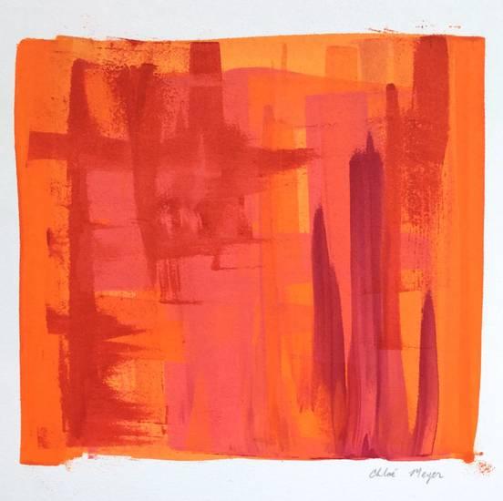 "PROGRAM 5, Chloé Meyer original art, 9"" x 8.75"", ink on paper"