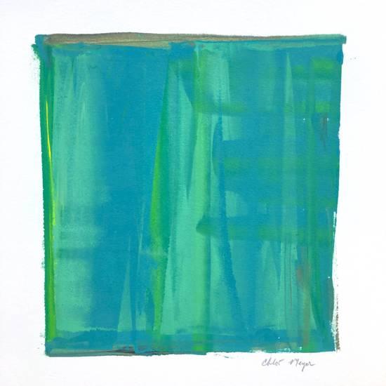 "LOOKING 1, Chloé Meyer original art, 10"" X 11"", ink on paper"