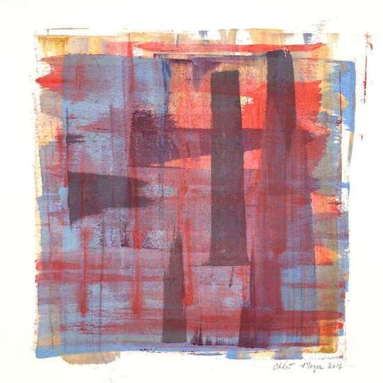 "PLEASED 1, Chloé Meyer, original artwork, 10"" X 11.25"", ink on paper"