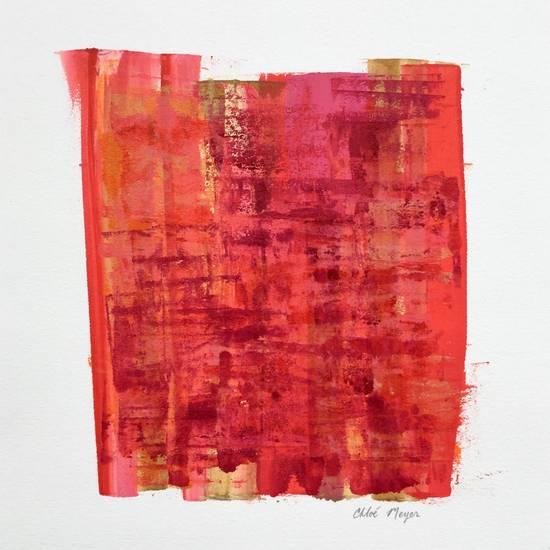 "PROGRAM 4, Chloé Meyer original artwork, 9"" X 9.5"", ink on paper"