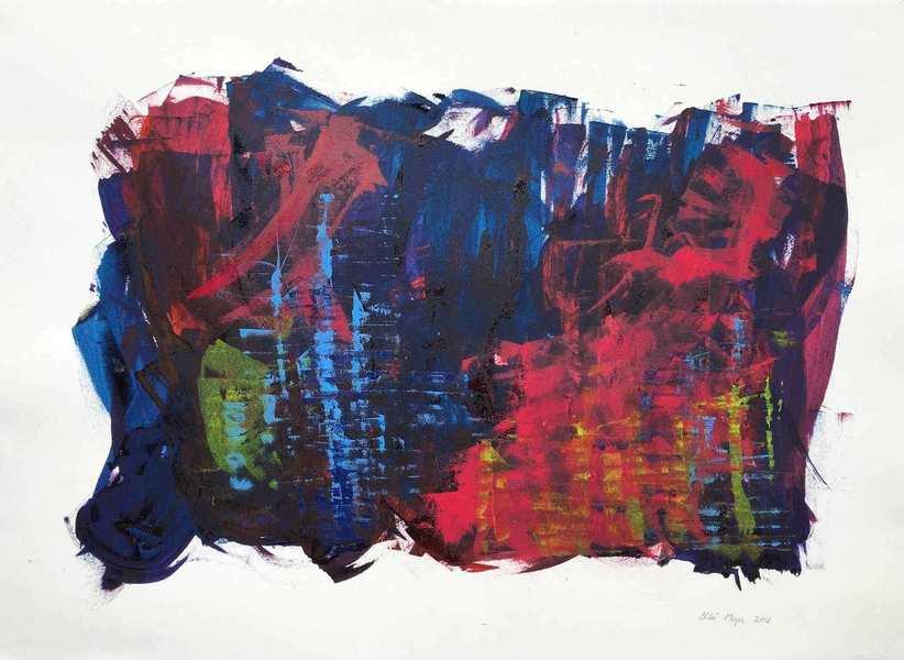 """STEP TOGETHER, Chloé Meyer original art, 22"""" x 30"""", ink on paper"""