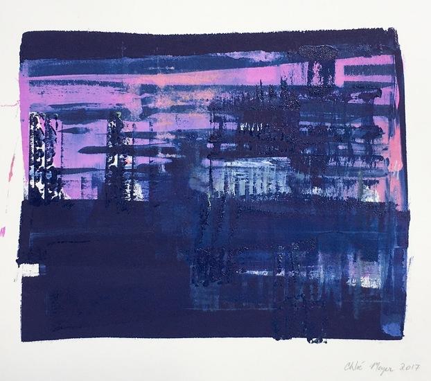 "BIRDIE 4, Chloé Meyer, original artwork, 11"" x 10"", ink on paper"